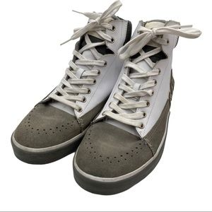 Merrell High Top Gray Suede White Leather Size 8.5